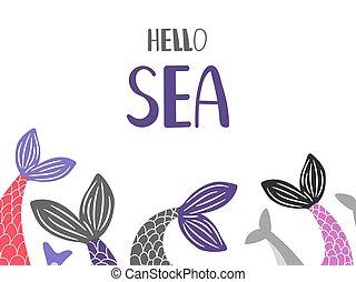 θάλασσα , fish, μικροβιοφορέας , ουρές , φόντο , γειά , ...