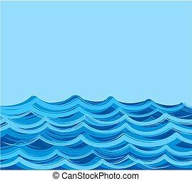 θάλασσα , waves.