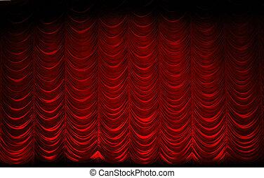 θέατρο , κουρτίνα