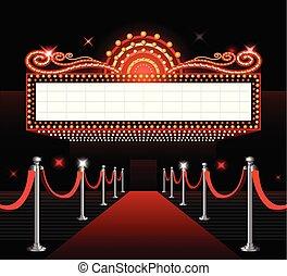 θέατρο , ταινία , σήμα , πρεμιέρα