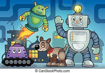 θέμα , ρομπότ , εικόνα , 6