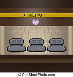 θέση , μετρό