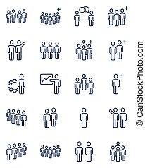 θέτω , άνθρωποι , γραμμή , απεικόνιση