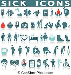 θέτω , άρρωστος , εικόνα