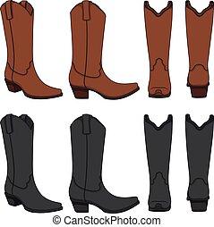 θέτω , αγελαδάρης , χρώμα , boots., απομονωμένος , μικροβιοφορέας , διευκρίνιση , objects.