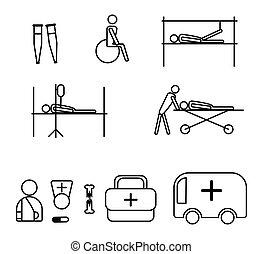 θέτω , απεικόνιση , ιατρικός , theme., εικόνα , traumatology.