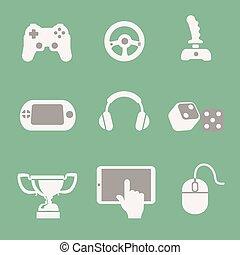 θέτω , απεικόνιση , παιγνίδι , μικροβιοφορέας , φόντο , άσπρο
