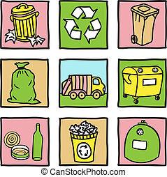 θέτω , από , ανακύκλωση , απεικόνιση