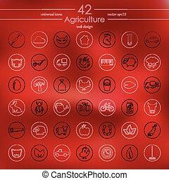 θέτω , από , γεωργία , απεικόνιση