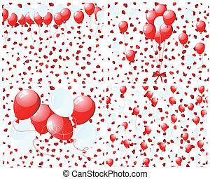 θέτω , από , μπαλόνι , φόντο