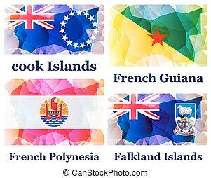 θέτω , από , σημαίες