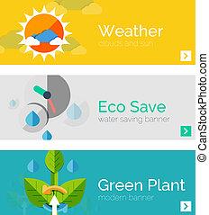 θέτω , από , eco, φύση , διαμέρισμα , σχεδιάζω , αντίληψη , σημαίες