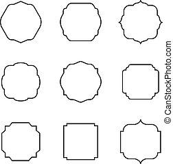 θέτω , από , retro , τετράγωνο , frame., μικροβιοφορέας , εικόνα