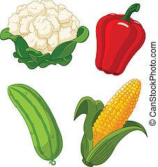 θέτω , από , vegetables2