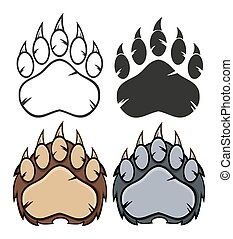 θέτω , αρκούδα , συλλογή , πέλμα ζώου