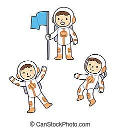 θέτω , αστροναύτης , γελοιογραφία