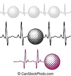 θέτω , γκολφ , όσπριο , μπάλα