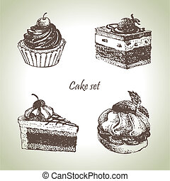 θέτω , διευκρίνιση , cakes., χέρι , μετοχή του draw