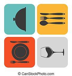 θέτω , εικόνα , τροφή , ιστός , κινητός , application., μικροβιοφορέας , εικόνα