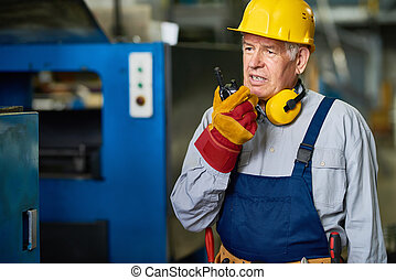 θέτω , εργοστάσιο , ραδιόφωνο , ομιλία , επιστάτης