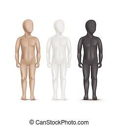 θέτω , μαννεκέν , τρία , απομονωμένος , μικροβιοφορέας , φόντο , παιδί , άσπρο