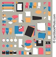 θέτω , μεγάλος , set., infographic, υπενθύμιση , stickers.