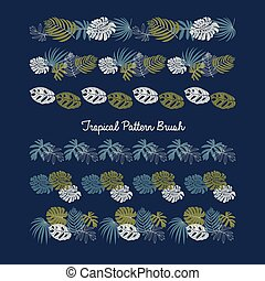 θέτω , πρότυπο , κορνίζα , φύλλα , τροπικός , μικροβιοφορέας , σχεδιάζω , βούρτσα , σύνορο