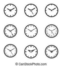θέτω , ρολόι , - , απομονωμένος , εικόνα , μικροβιοφορέας , εικόνα