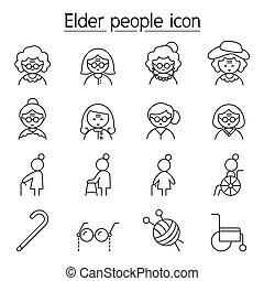 θέτω , ρυθμός , γεροντότερος , αδυνατίζω αμυντική γραμμή , γυναίκα , γιαγιά , εικόνα