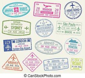 θέτω , ταξιδεύω , αποτύπωμα , μικροβιοφορέας , διαβατήριο , διεθνής , βίζα
