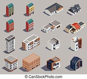 θέτω , των προαστείων , εικόνα , κτίρια