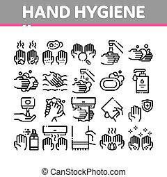 θέτω , υγιεινή , χέρι , απεικόνιση , μικροβιοφορέας , συλλογή , υγιεινός