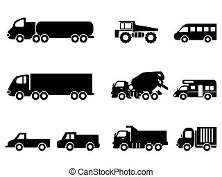 θέτω , φορτηγό , απεικόνιση