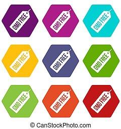 θέτω , gmo , χρώμα , τιμή , ελεύθερος , ετικέτα , hexahedron, εικόνα