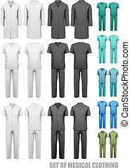 θέτω , illustration., ιατρικός , clothes., μικροβιοφορέας , σχεδιάζω , template.