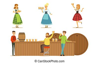 θέτω , illustrations., άντρεs , πίνω , μικροβιοφορέας , μπύρα , bar.