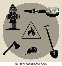 θέτω , service., φωτιά , αντικειμενικός σκοπός , φόντο , άσπρο