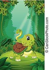 θαλάσσια χελώνα , καθαρά , αγίνωτος φίδι , δάσοs