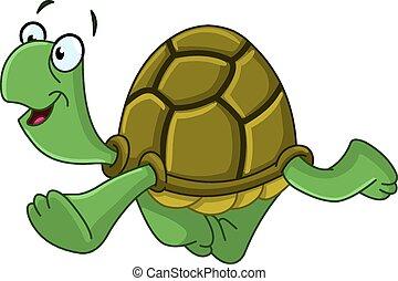 θαλάσσια χελώνα , περίπατος