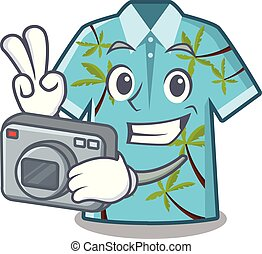 θαλαμίσκος , hawaiian , φωτογράφος , δίπλωσα , πουκάμισο ,...