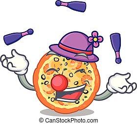 θαλασσινά , απάτη , πίνακας , επάνω , γελοιογραφία , πίτα με τομάτες και τυρί