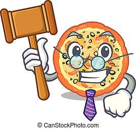 θαλασσινά , πίνακας , επάνω , δικαστήs , γελοιογραφία , πίτα με τομάτες και τυρί