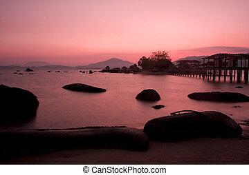 θαλασσογραφία , ανατολή