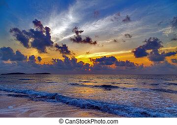 θαλασσογραφία , ηλιοβασίλεμα , ανατολή
