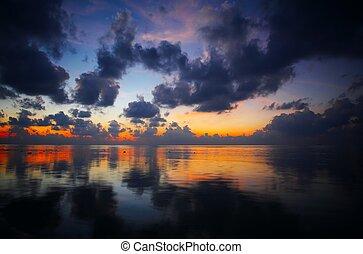 θαλασσογραφία , ηλιοβασίλεμα , βλέπω