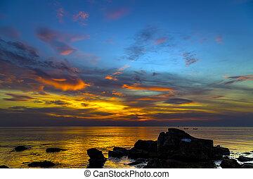 θαλασσογραφία , θαμπάδα , ηλιοβασίλεμα , γραφικός , ουρανόs