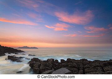 θαλασσογραφία , καταπληκτικός , ηλιοβασίλεμα