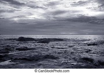 θαλασσογραφία , λυκόφως
