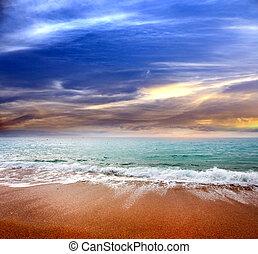 θαλασσογραφία , παραλία , αμμώδης
