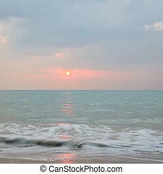 θαλασσογραφία , σιάμ , andaman , ηλιοβασίλεμα , θάλασσα